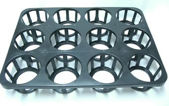 穴トレー 12穴 大  プラスチックトレイ ラッパ鉢 転倒防止に