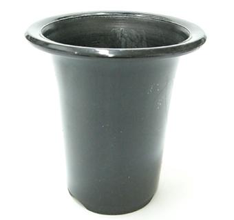 洋蘭プラ鉢 4.5号(5号小) 10個 黒ラン鉢 プラ鉢 15cm 薔薇 苗 深鉢 キンリョウヘン 金稜辺