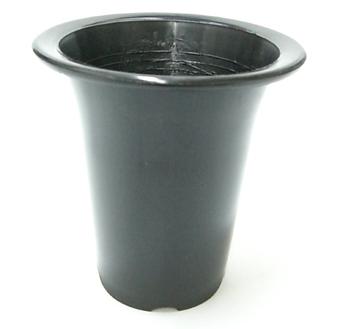 洋蘭プラ鉢 5.5号 10個 黒ラン鉢 プラ鉢 16.5cm 薔薇 苗 深鉢