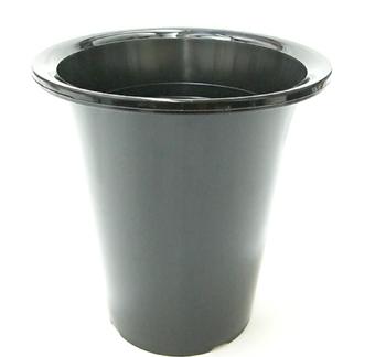 洋蘭プラ鉢 6.0号 10個 黒ラン鉢 プラ鉢 18cm 薔薇 苗 深鉢