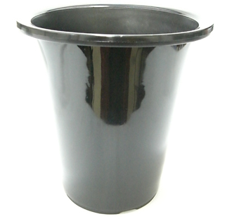 洋蘭プラ鉢 7.0号 10個 黒ラン鉢 プラ鉢 21cm 薔薇 苗 深鉢