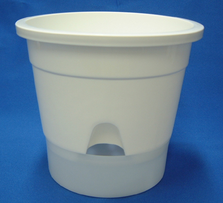 底面給水プラ鉢 5号 半透明受皿付き