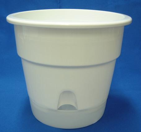 底面給水プラ鉢 6号 半透明受皿付き