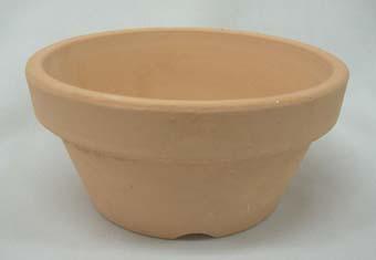 素焼き鉢 ロクロ造り 浅鉢(平鉢) 4.5号 10枚