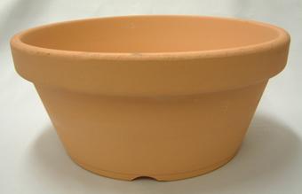 素焼き鉢 浅鉢(平鉢) 9.0号 1枚
