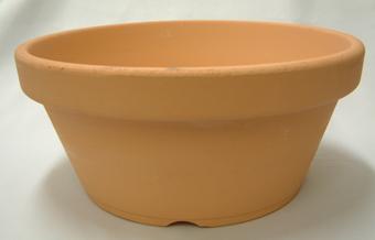 素焼き鉢 浅鉢(平鉢) 10号 1枚