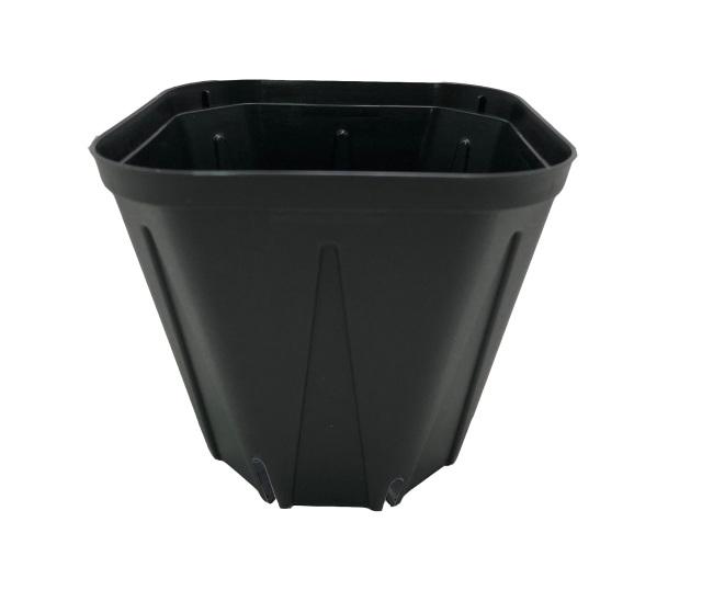 スリット鉢 プラ鉢 10.5cm 角型 KP-105  3.5号 100個セット