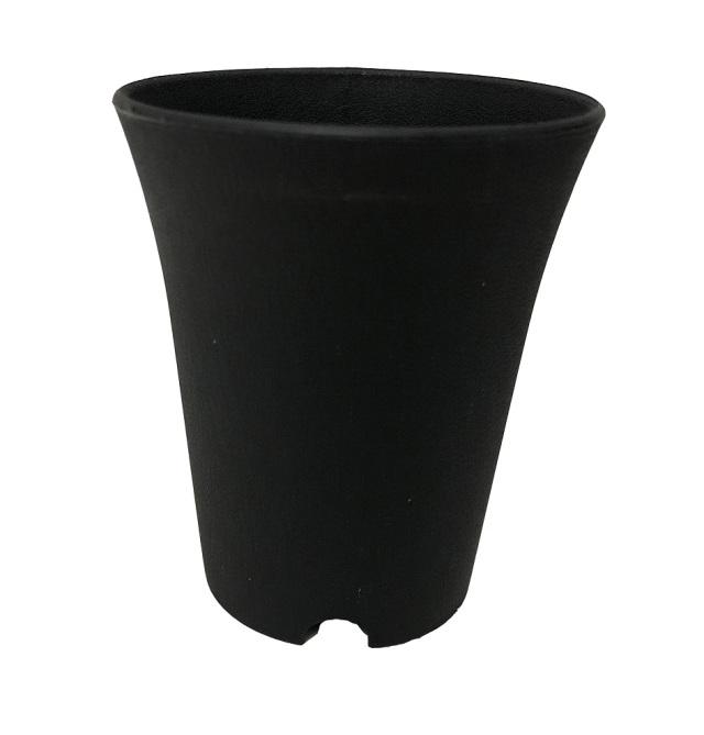 ミニ蘭鉢 ロングタイプ 黒(ブラック) プラ鉢 3.5号 10個