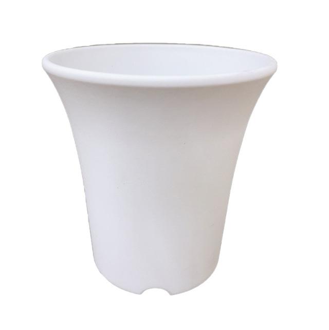 ミニ蘭鉢 白(ホワイト) プラ鉢 3.5号 110個 ミニラン鉢