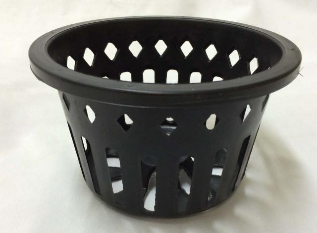 穴鉢 17cm ダイヤ+横スリット 黒 10個 富貴蘭 多肉植物 サボテン 洋蘭 原種