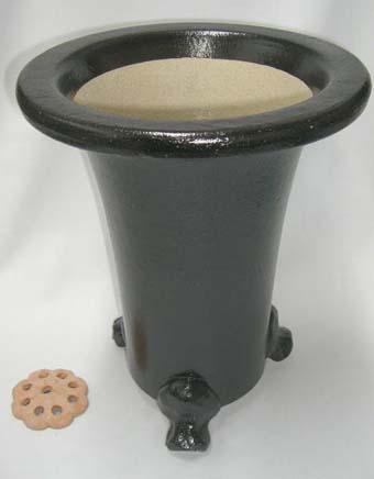 京楽焼植木鉢 8.0号 春蘭用 寒蘭用 サナ付き 澤作 送料無料
