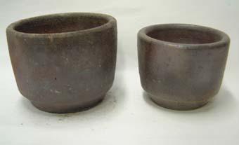 さくら草の鉢 2枚セット 丹波風 焼〆鉢
