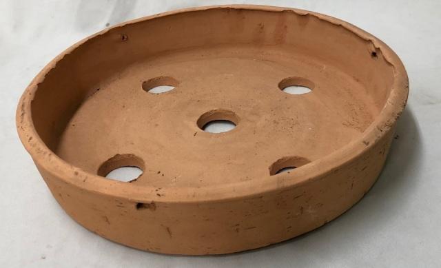 素焼き鉢 皿鉢 10号 手作り品