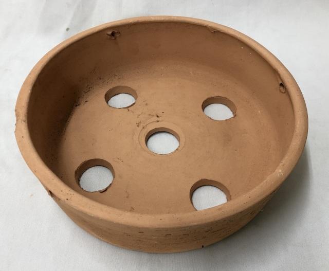 素焼き鉢 皿鉢 8号 手作り品