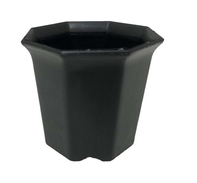 シャトル鉢 黒 2.5寸 八角型 8角 414個セット 多肉 サボテン プラ鉢