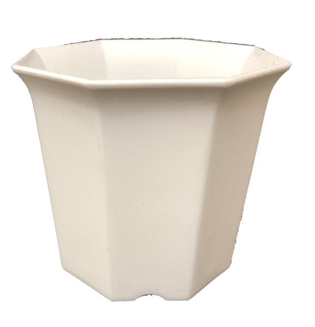 シャトル鉢 白 2.5寸 八角型 8角 414個セット 多肉 サボテン プラ鉢