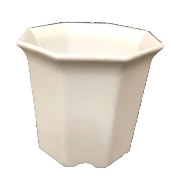 シャトル鉢 白 2寸 八角型 8角 500個セット 多肉 サボテン プラ鉢