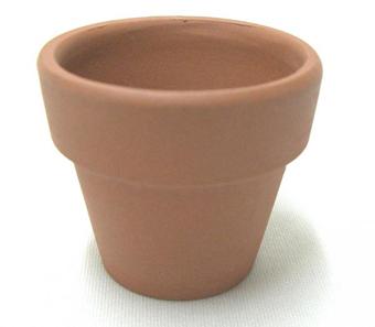 小品盆栽 仕立鉢 シオン鉢 1.5号 100枚セット 硬質素焼き鉢