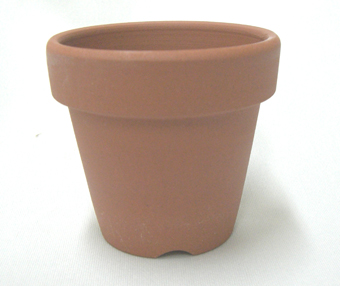 小品盆栽 仕立鉢 シオン鉢 2号 深 6cm 1枚 硬質素焼き鉢