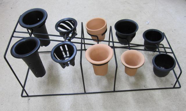 富貴蘭用 置き掛け枠 10個掛け 黒 フリーサイズ