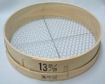 木製 フルイ 網目13mm 万能フルイ 35cm 園芸用