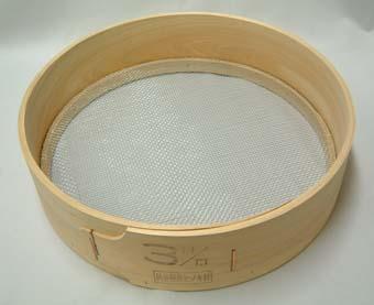 木製 フルイ 網目3.0mm 万能フルイ 35cm 園芸用