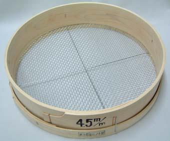 木製 フルイ 網目4.5mm 万能フルイ 35cm 園芸用
