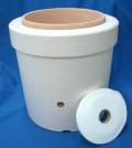 発泡スチロール鉢 8号+素焼鉢+給水テープ 水冷鉢 二重鉢