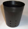 側面穴付ポリポット深鉢 10.5cm 黒 100個