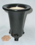 京楽焼植木鉢 5.5号 春蘭用 寒蘭用 サナ付き 澤作