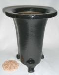 京楽焼植木鉢 6.5号 春蘭用 寒蘭用 サナ付き 澤作