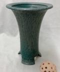 信楽焼き寒蘭鉢 6.5号 青銅 胴しぼり サナ付き