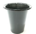 洋蘭プラ鉢 6.0号 1個 黒ラン鉢 プラ鉢 18cm 薔薇 苗 深鉢