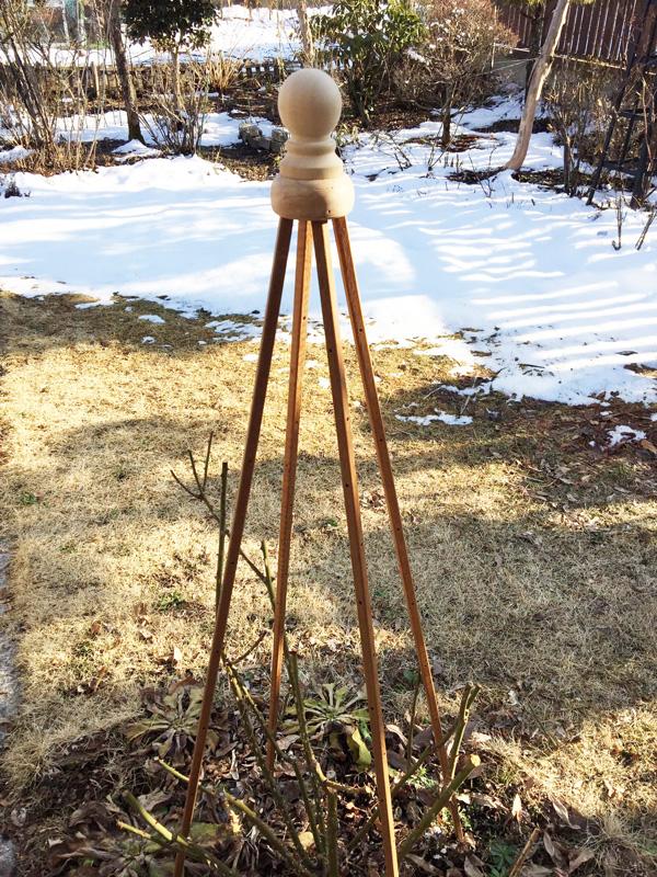 簡単オベリスクキット (Rタイプ, ボールデザイン,支柱長さ150cm)