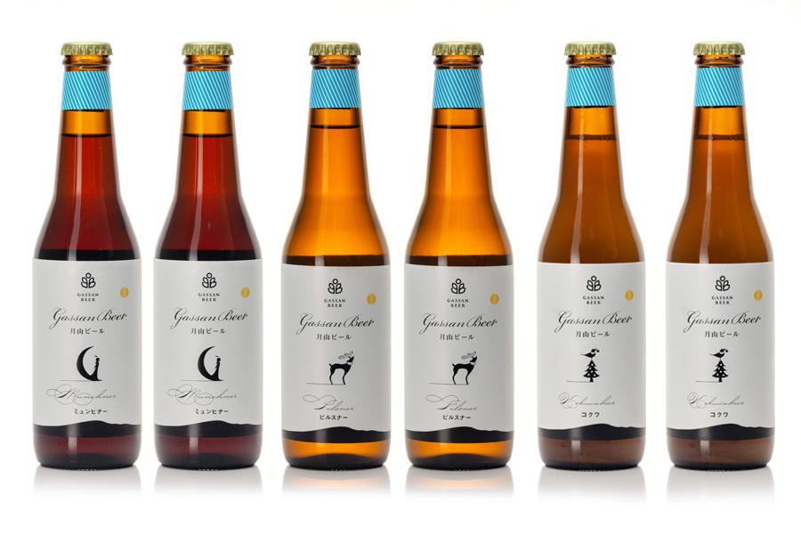 月山ビール330ml 6本セット(ピルスナー・ミュンヒナー・コクワ)