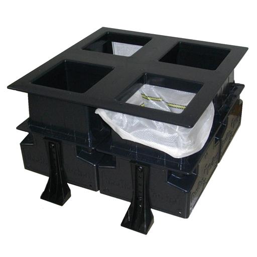 土のう製作器 ビービーワーカー (4型)(48×62cm用)【楽らくグリップ付】ビービーダブリュ[土嚢袋詰め器 ] [建築土木機材][土嚢袋詰め器]