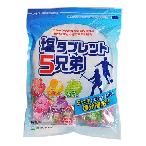 【送料無料】塩タブレット5兄弟 530g 袋入