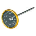 【佐藤計量器】アスファルト用温度計 80mmφ/黒 AT-80K (測定範囲:0~200℃)