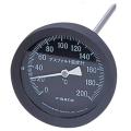 【佐藤計量器】アスファルト用温度計 100mmφ/黒 AT-100K (測定範囲:0~200℃)