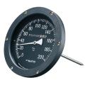 【佐藤計量器】アスファルト用温度計 150mmφ/黒 AT-150K (測定範囲:0〜200℃)