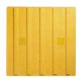 【送料無料】エコ点字パネル(再生エラストマー樹脂使用) 400角 ライン 黄 15枚 エコマーク認定 アラオ