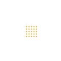 【送料無料】点字ユニット(MMA埋め込み施工タイプ) 本体 ポイントタイプ 黄 25枚 下地材別売 アラオ