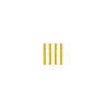 【送料無料】点字ユニット(MMA埋め込み施工タイプ) 本体 ラインタイプ 黄 25枚 下地材別売 アラオ
