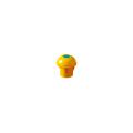【送料無料】パイプカバー エコキャッピカ(シール付) 200個 D19~25 単管兼用 黄 エコマーク認定 アラオ