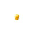 【送料無料】パイプカバー デーキャップ D35 100個 D35~38 黄 アラオ