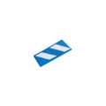 【送料無料】コーナーガード(反射タイプ) 10枚  270W×2,000L(うちクッション部220W) 青/白 アラオ