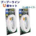 駐車場ラインテープ ブーブーラインU型 BBL3-U2 3cm幅 (2巻セット) Glaken [メーカーから探す][か行][グラスファイバー工研][ブーブーライン]