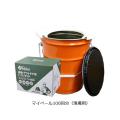 簡易トイレ マイペールT-100(ペール缶トイレ/トイレ処理剤100回分) まいにち [仮設用材][簡易仮設トイレ]