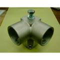単管接続用 コーナー機器取付金具 S-13-3Y【ジョイント工業】締付:ホーローセット(イモネジ)