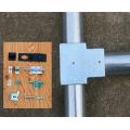 単管接続用 T型錠前取付金具  25-2T【ジョイント工業】上級者向け